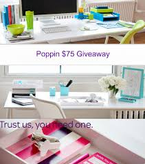 beautiful bright office. poppin office supplies giveaway beautiful bright