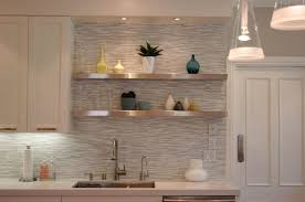 Kitchen Magnificent White Glass Backsplash Tile Ideas With Regard To