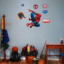 Spiderman Bedroom Decorations Fathead 30 In X 24 In Spiderman And Assorted Wall Decals Fh15