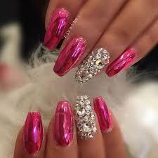 Pink Chrome Nehty Nehty Design Nehtů A Gelové Nehty
