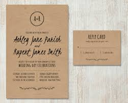 Rustic country peach and pink   kraft paper wedding invitations     AliExpress com Buy rustic wedding invitations from Paper Bound Love online shop  This  invitation features white ink printing on kraft paper  with white envelopes