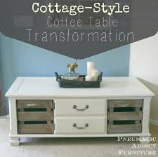 Style Coffee Table Pneumatic Addict Cottage Style Coffee Table Transformation