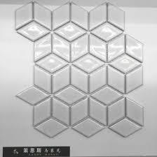 d white glossy porcelain mosaic tilesdiamond wall cerami on vinyl floor tiles