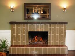 before outdated brick fireplace