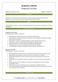 Law Clerk Resume Samples Qwikresume