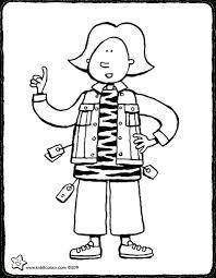 Kid In Bloem Jurk Kleurplaat Pagina Stockvector Ssstocker