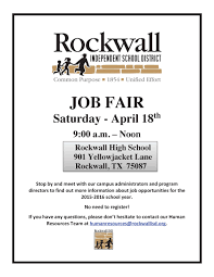 rockwall isd to host job fair on april 18