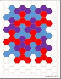 Hexagon Chart Excel Hexagonal Graph Paper Template Spreadsheetshoppe