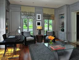 built in study furniture. grey built in bookcase home office victorian with gray wall custom furniture roman shades study