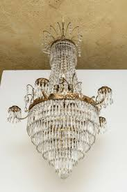 gustavian antique swedish crystal chandelier mid 19th century for
