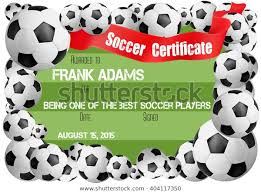Free Soccer Certificate Templates Soccer Certificate Template Football Ball Icons Stock Vector