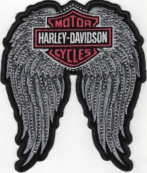 harley davidson ladies studded angel wing harley patch