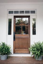 front door. Rustic Wood Panelled Farmhouse Front Door Ideas C