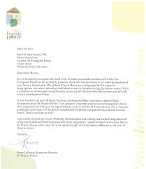 Thank You Letter For Gift A Thank You Letter From St Francis House To St John Parish For The 22