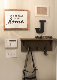 Coat Rack Shelf Diy Mudroom gallery wall DIY coat rack shelf 46