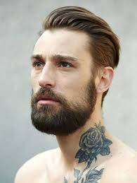 Slicked Back Hair Style beauty beard with slicked back hair haircut pinterest haircuts 2576 by stevesalt.us
