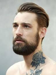 Slicked Back Hair Style beauty beard with slicked back hair haircut pinterest haircuts 2576 by wearticles.com