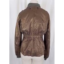 womens racer cafe brown leather moto er jacket