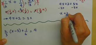 clear fractions from linear equations