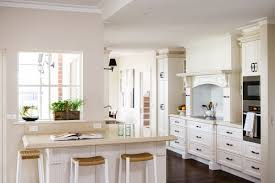 Clean Country Style Kitchen Design in White Theme with White ...