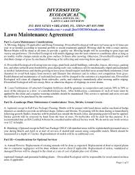 Free Lawn Care Contract Templates Templates Mje4mtg