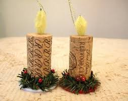 Wine Cork And Poker Chip Candle Christmas Ornaments. $5.50, via Etsy.