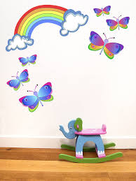 rainbow and erfly wall stickers