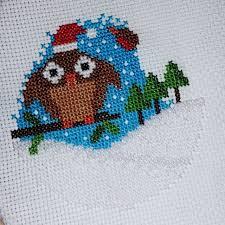 Owl Cross Stitch Pattern Awesome Crafty Critters Christmas Owl Cross Stitch Pattern Crafty Critters