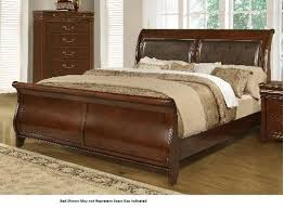 sleigh bed furniture. Lifestyle 4116A- Misk Queen Sleigh Bed Furniture F