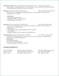 Food Industry Resume Examples Best Of Food Service Worker Resume Fast Food Worker Resume Food Service