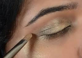 step 4 add dark brown shade gold eye makeup