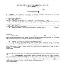 House Contract Form House Buying Contract Form Simple Purchase Agreement