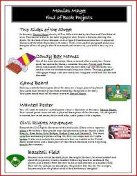 best maniac magee images maniac magee  maniac magee novel project choices activity