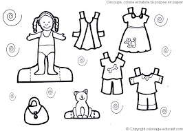 Small Picture Beautiful Paper Doll Clothes Coloring Pages Pictures Coloring
