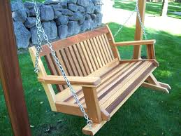 wooden porch swings swing stand plans wood free standing