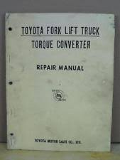 manual heavy equipment parts accessories for toyota vintage oem toyota forklift torque converter repair service manual