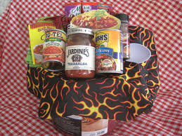 chili cook off basket to raise money for the eliminate project