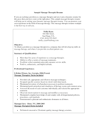 Massage Therapist Resume Sample Cover Letter