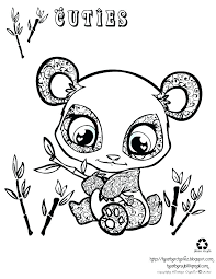 Kawaii Panda Coloring Sheet Zen Coloring Book