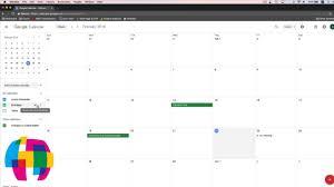 Calnedar Google Calendar Tutorial 2018 Quick Start Training Youtube