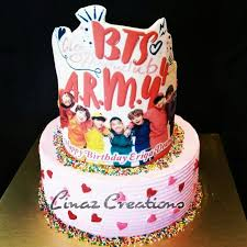 15kg Bts Theme Birthday Cake Need A Customised Cakes Contact Us At