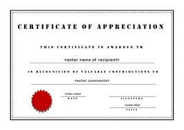 free templates for certificates of appreciation certificate of appreciation template publisher certificates of