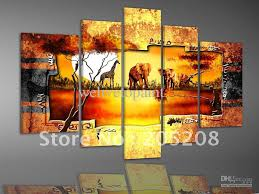 2018 framed 5 panels huge wall art gold canvas picture african oil painting home decor xd00278 from welivetopaint 184 0 dhgate com