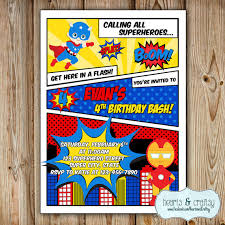 superheroes birthday party invitations superhero party invitation super hero birthday invitation