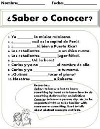 10 Best Saber Vs Conocer Images Spanish Lessons Learning