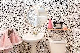Wallpaper that Transforms Powder Bathrooms