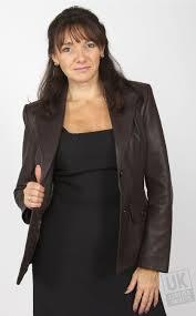 latest women s brown leather jackets leather l blazer venus long size 12 s8122 women
