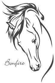 Paardenhoofd Kleurplaat Google Zoeken Isa Tatoeage Paard