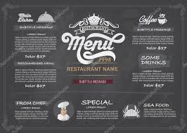 Restaurant Menus Layout Vector Layout Design Menu Restaurant Template Stock