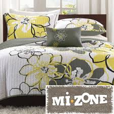 Madison Park Brianna 6-piece Coverlet Set - Overstock Shopping ... & Mizone Mackenzie Yellow/Grey Patterned Polyester Quilt Set - Overstockâ?¢  Shopping - The Best Prices on Mi-Zone Teen Quilts Adamdwight.com